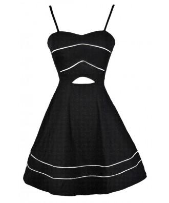 Black A-Line Dress, Black Party Dress, Black Cutout Dress, Little Black Dress, Cute Black Dress