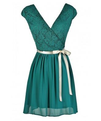 Jade Lace Dress, Jade Lace Party Dress, Jade Lace Capsleeve Dress, Teal Lace Dress, Teal Lace A-Line Dress, Teal Lace Capsleeve Dress