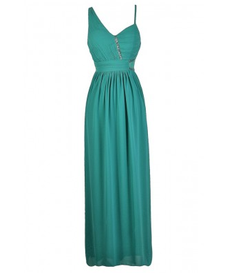 Teal Maxi Dress, Teal Prom Dress, Teal Formal Dress, Jade Maxi Dress, Jade Prom Dress, Jade Formal Dress, Embellished Prom Dress, Embellished Maxi Dress, Green Prom Dress, Green Maxi Dress, Green Formal Dress