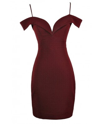 Burgundy Off Shoulder Dress, Burgundy Off Shoulder Pencil Dress, Burgundy Cocktail Dress, Burgundy Party Dress, Cute Holiday Dress, Cute Valentine's Day Dress, Cute Burgundy Dress
