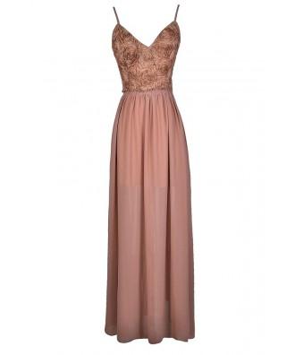 Pink Rosette Prom Dress, Pink Rosette Maxi Dress, Pink Rosette Open Back Dress, Cute Pink Dress, Pink Prom Dress, Pink Maxi Dress, Dusty Pink Maxi Dress, Dusty Pink Prom Dress, Dusty Pink Open Back Dress, Rosette Maxi Dress
