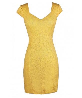 Bright Yellow Dress, Cute Yellow Dress, Yellow Lace Dress, Yellow Lace Pencil Dress, Yellow Lace Cocktail Dress, Yellow Lace Party Dress, Yellow Pencil Dress, Bright Yellow Dress