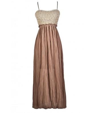 Cute Summer Dress, Cute Maxi Dress, Brown and Beige Maxi Dress, Bohemian Maxi Dress, Hippie Maxi Dress, Cute Summer Dress