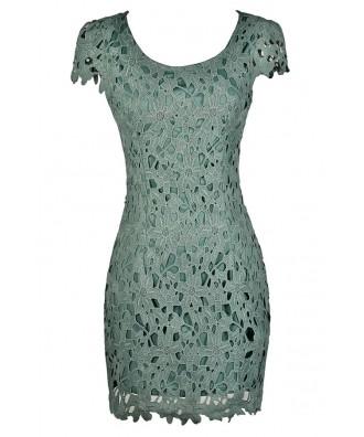 Crochet Lace Capsleeve Pencil Dress, Sage Crochet Lace Dress, Mint Crochet Lace Dress, Green Crochet Lace Dress, Cute Summer Dress, Crochet Lace Summer Dress, Crochet Lace Pencil Dress