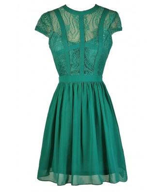 Green Lace Dress, Cute Green Dress, Jade Lace Dress, Teal Lace Dress, Green Lace Party Dress, Green Lace Cocktail Dress, Green Lace A-Line Dress