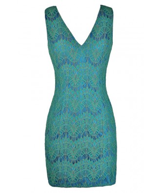 Blue and Green Lace Dress, Blue and Mint Lace Dress, Blue Green Party Dress, Blue Green Cocktail Dress, Blue and Green Pencil Dress, Blue Mint Lace Dress, Cute Mermaid Dress, Cute Summer Dress, Blue and Green Summer Dress