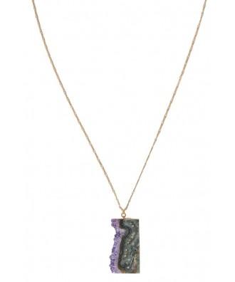 Rough Amethyst Necklace, Amethyst Crystal Necklace, Purple Gemstone Necklace, Purple Crystal Necklace, Rough Gemstone Necklace, Amethyst and Gold Necklace