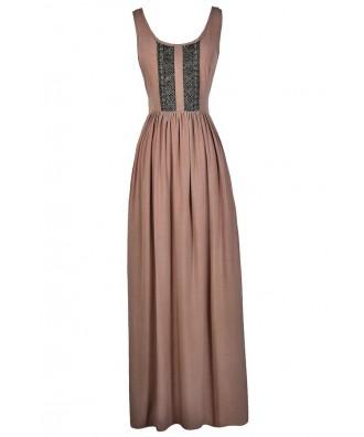 Taupe Maxi Dress, Cute Maxi Dress, Beige Maxi Dress, Brown Maxi Dress, Summer Maxi Dress, Cute Maxi Dress, Cute Summer Dress, Lace Back Maxi Dress, Boho Maxi Dress, Summer Maxi Dress