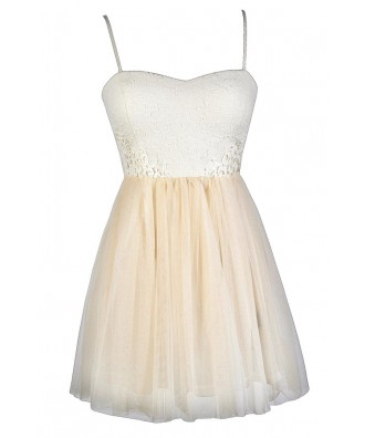Tulle Party Dress, Beige Tulle Dress, Tulle Cocktail Dress, Tulle Ballerina Dress, Ivory and Beige Party Dress, Ivory and Beige Cocktail Dress, Beige Tulle Party Dress, Beige Tulle Cocktail Dress, Beige Summer Dress, Cute Party Dress, Cute Bridal Shower D