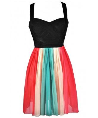 Rainbow Party Dress, Cute Rainbow Dress, Multi Colored Rainbow Dress, Rainbow Summer Dress, Rainbow Party Dress