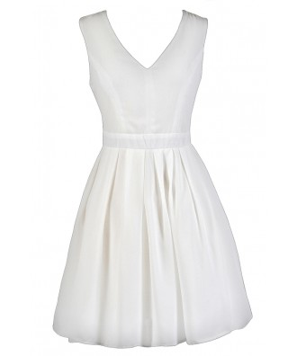 Cute Ivory Dress, Cute Off White Dress, Ivory A-Line Dress, Off White A-Line Dress, Ivory Rehearsal Dinner Dress, Off White Bridal Shower Dress, Cute Ivory Summer Dress, Cute Off White Summer Dress, Ivory Party Dress