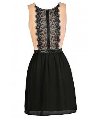Dusty Pink Dress, Pink and Black Dress, Business Casual Dress, Cute Work Dress, Tuxedo Style Dress
