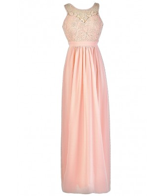 Pink Lace Maxi Dress, Pink Lace Bridesmaid Dress, Pink Lace Maxi Bridesmaid Dress, Pink Floral Lace Maxi Dress, Pale Pink Maxi Dress