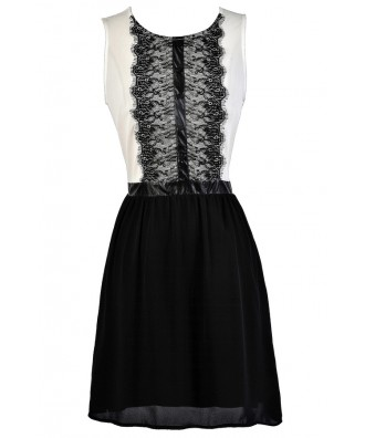Cute Work Dress, Tuxedo Dress, Black and White Dress, Two In One Dress, Business Casual Dress