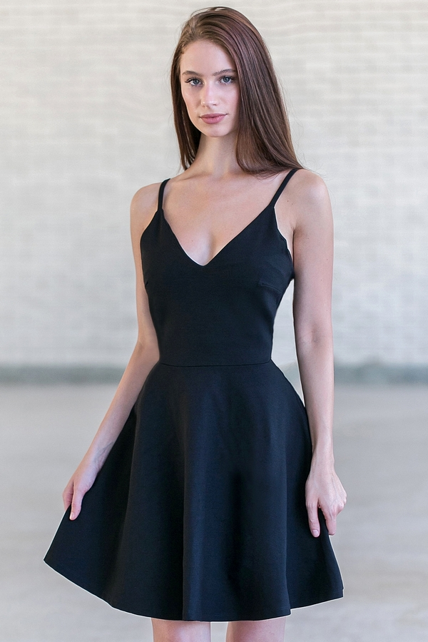 Black Dress with Back Out