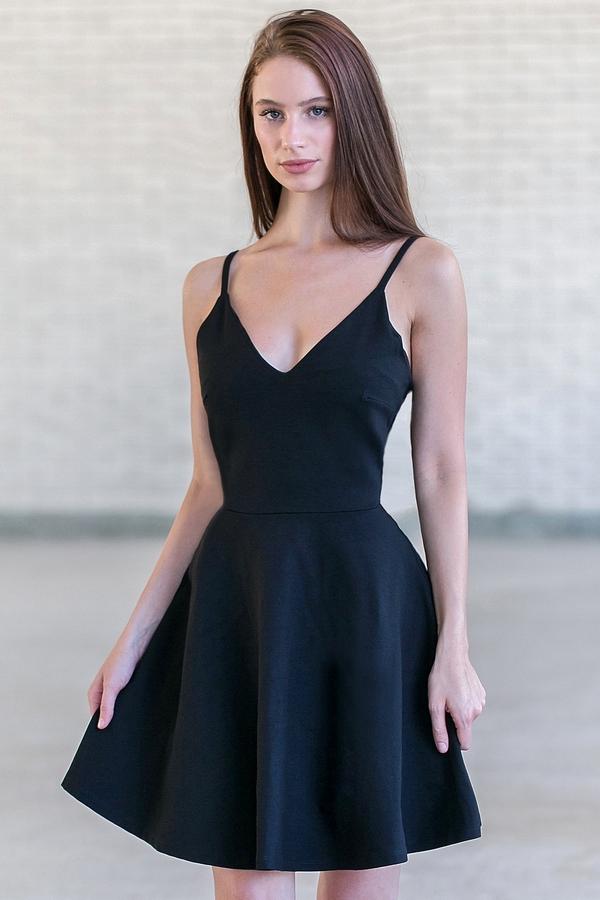Little Black Dress Cute Black A Line Dress Black Party Dress Lily