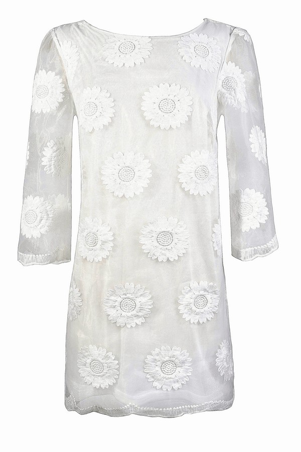 cute white bridal shower dress cute white rehearsal dinner dress white summer dress cute white dress sunflower hippie dress embroidered white sheath