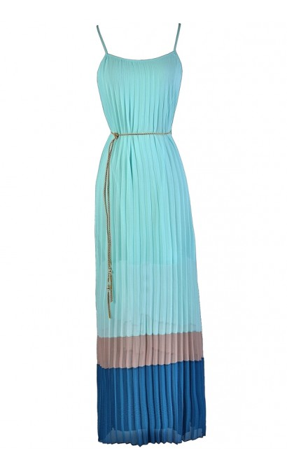d6f05d239711 Cute Colorblock Maxi Dress
