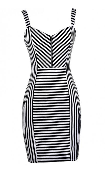 Black and White Stripe Dress, Cute Stripe Dress, Black and White Party Dress, Stripe Party Dress, Cute Stripe Dress, Cute Summer Dress, Cute Party Dress