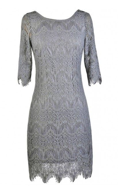 Gray Lace Dress, Grey Lace Pencil Dress, Grey Lace Sheath Dress, Fitted Grey Lace Dress, Grey Lace Cocktail Dress, Grey Lace party Dress, Gray Lace Pencil Dress