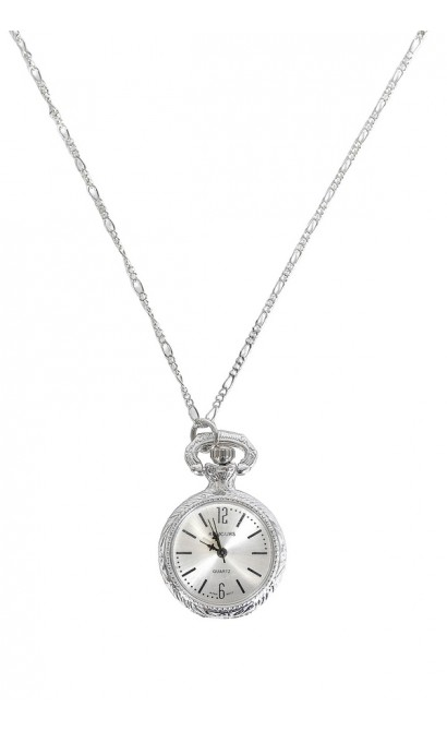 Silver watch pendant silver watch necklace cute necklace cute cute silver necklace silver watch necklace silver watch pendant silver clock necklace mozeypictures Gallery