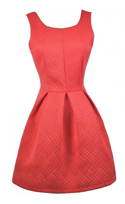 b46293ec1846 Red A-Line Dress