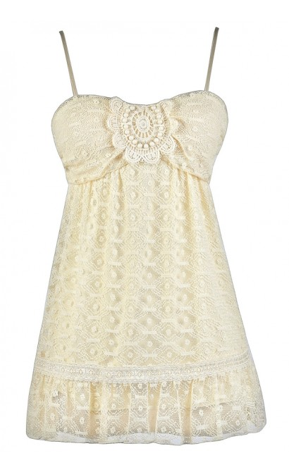 Cute Beige Top, Cream Lace Top, Cute Summer Top, Cute Juniors Top