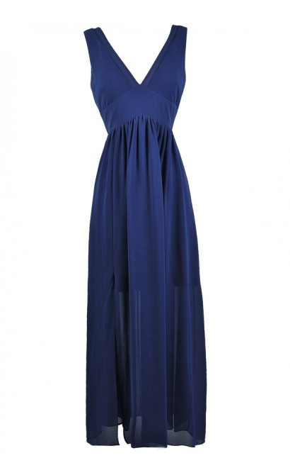 Bright Blue Maxi Dress, Royal Blue Maxi Dress, Cute Blue Dress, Blue Summer Maxi Dress