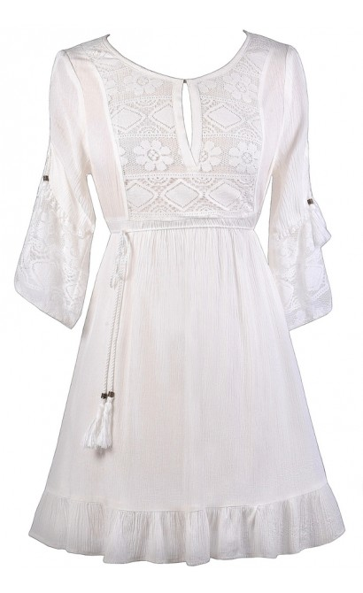 3547fdb6a5d White Boho Dress