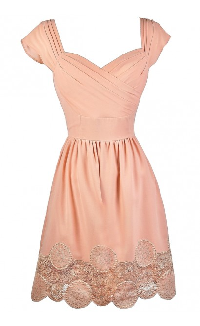 Blush Pink Dress, Blush Pink Bridesmaid Dress, Blush Pink Summer Dress, Cute Pink Dress