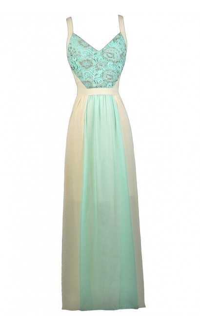 13e6f7b64103 Sky Blue and Cream Maxi Dress