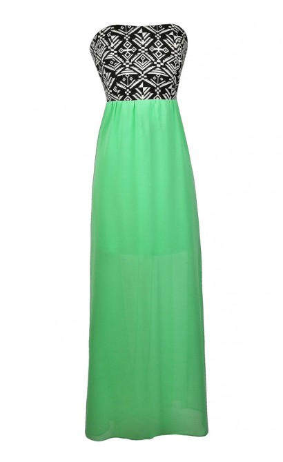 Bright Green Maxi Dress, Cute Summer Dress, Summer Maxi Dress, Lime Green Maxi Dress