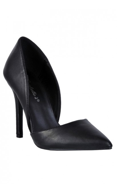 Cute Black Pump, Black D'orsay Pump, Black Pointed Toe Pump