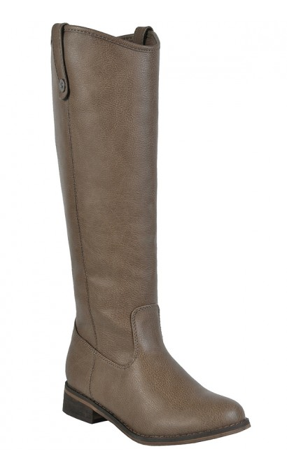 Beige Riding Boots, Cute Fall Boots, Tan Riding Boots
