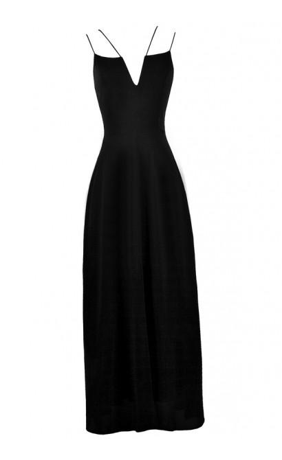 Black Maxi Dress, Cute Black Maxi, Summer Maxi Dress