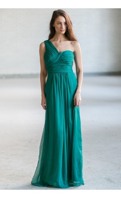 Green Maxi Bridesmaid Dress