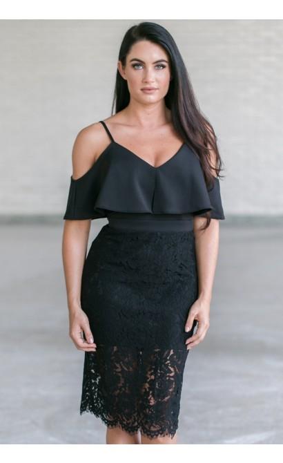 Cute Little Black Dress, Cute Online Boutique Dress, Black Lace Cocktail Dress, Black Party Dress