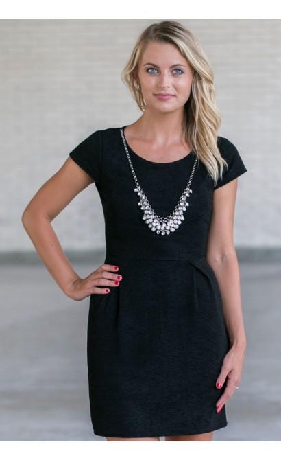 Cute Little Black Dress, Cute Work Dress, Black Sheath Dress