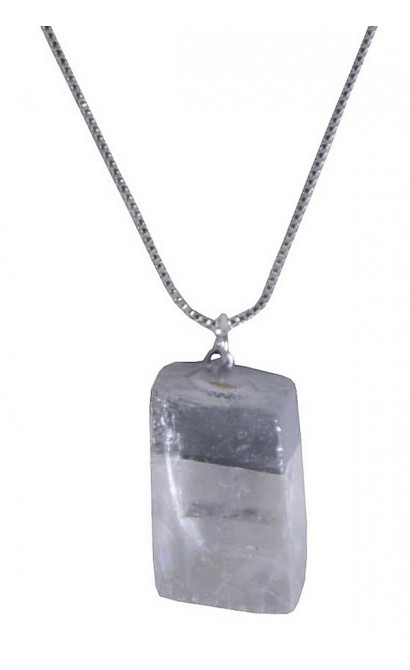 Crystal and Silver Pendant, Cute Boho Jewelry, Boutique Necklace