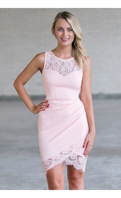 Pink Lace Cocktail Dress Online