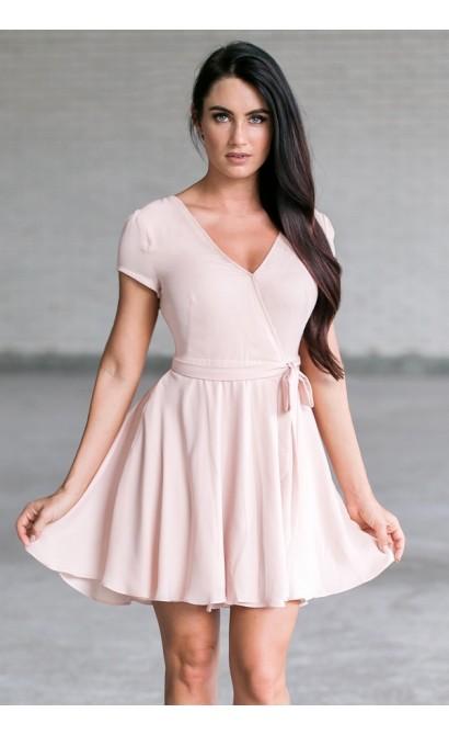 e2e89ecdd24 Pale Pink Wrap Dress