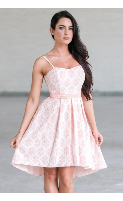 Pink High Low Dress, Cute Summer Dress Online