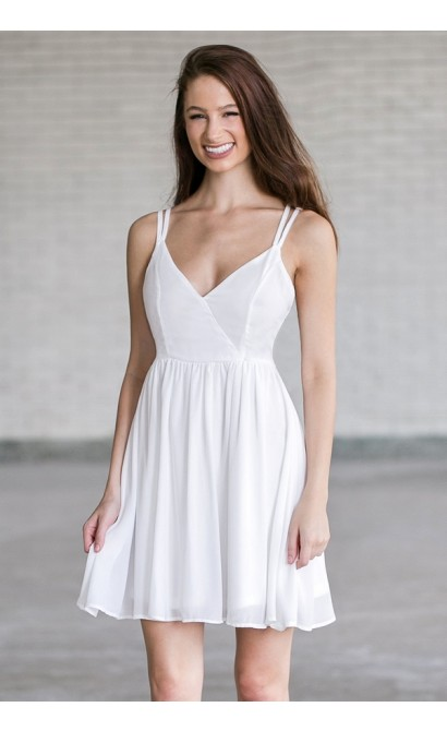bea4bfa7759 Off White Strappy party Dress