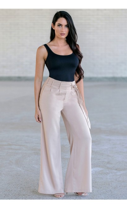 Beige Dress Pants, Cute Work Pants For Juniors
