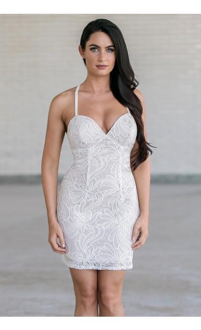 5d2b0a9525d Ivory Sequin Party Dress, Off White Sequin Party Dress, Cute Sequin Party  Dress, New Years Eve Dress Lily Boutique