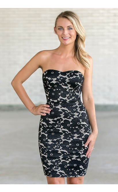 All Abloom Floral Lace Dress in Black