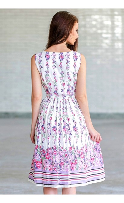 4ae018e124 Purple and Pink Floral Print Dress