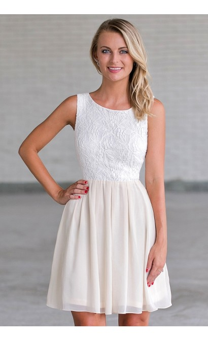 beige and cream a line dress bridal shower dress