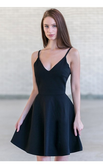 Black Dress a Line Party
