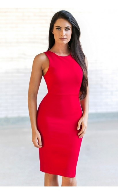 Cute red cocktail dress